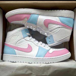 Nike Custom Air Jordan 1 Cotton Candy Sneakers